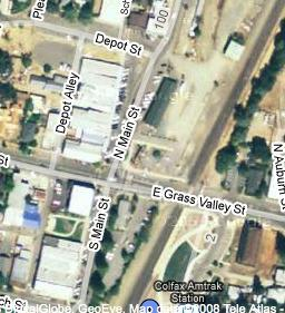Satellite image of Downtown Colfax