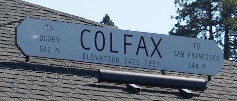 image of colfax depot sign